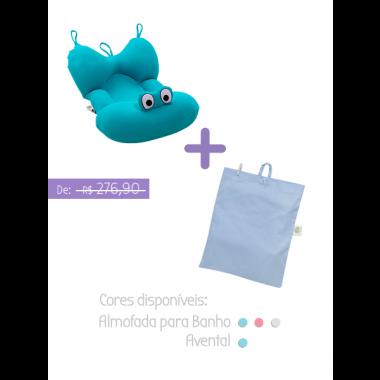 Kit 1: Almofada para banho + Avental para Amamentação