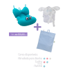 Kit 3: Almofada para banho + Avental para amamentação + Toalha infantil com alça